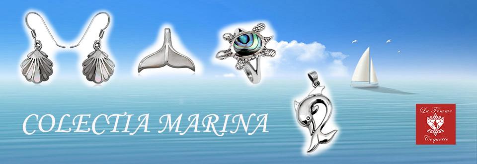 Set cu inimi din argint si scoici Ochiul lui Shiva