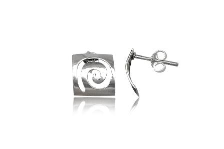 cercei spirale decupate in argint