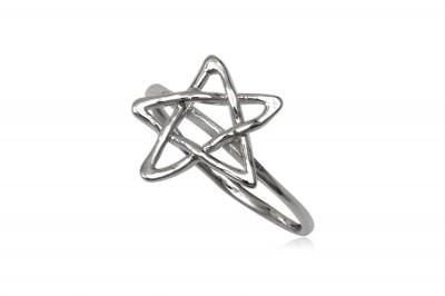 Inel cu Steaua lui David din argint
