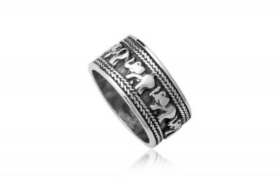 Verigheta unisex din argint cu elefanti