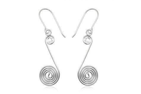 cercei argint cu spirale