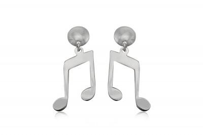 Cercei cu tema muzicala din argint