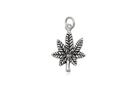 pandantiv frunza din argint