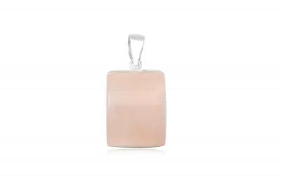 Pandantiv din cuart roz si argint