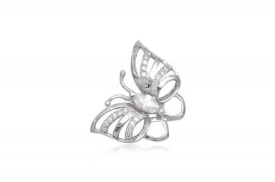 Pandantiv Fluture din argint rodiat