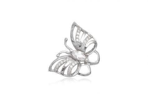 pandantiv fluture argint si zirconii