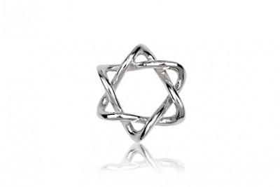 Pandantiv din argint Steaua lui David