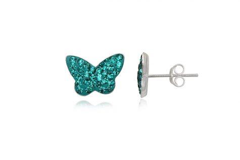 cercei fluturi tucoaz cu cristale