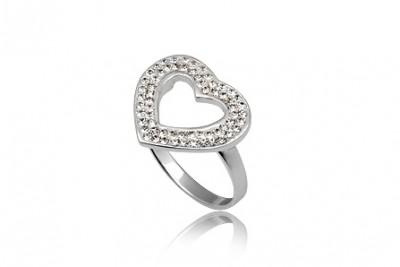 Inel Inima stralucitoare din argint