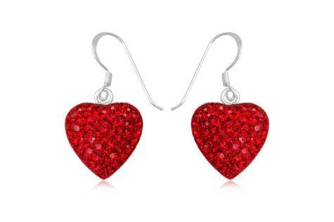 cercei inimi romantice din argint