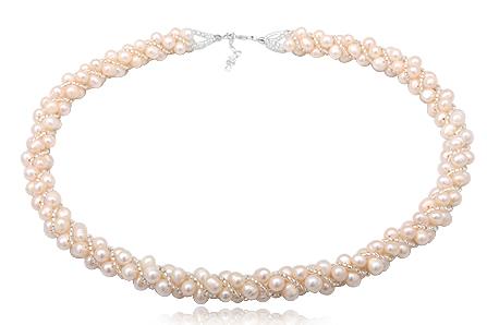 colier statement cu perle
