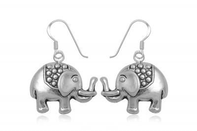 Cercei din argint cu elefantei