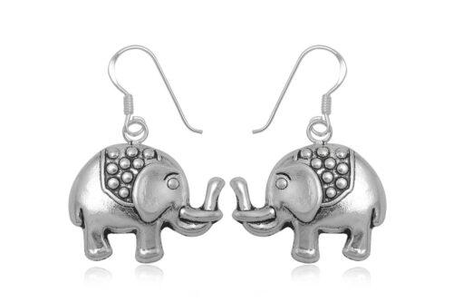cercei elefantei din argint