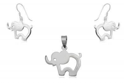 Set din argint cu elefantei