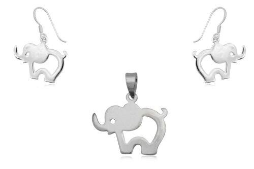 set elefantei din argint