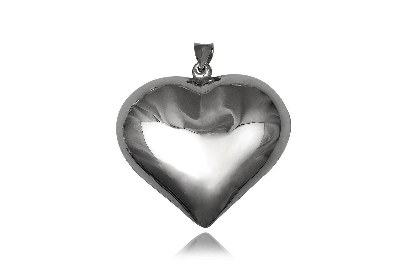 pandantiv inima caseta argint