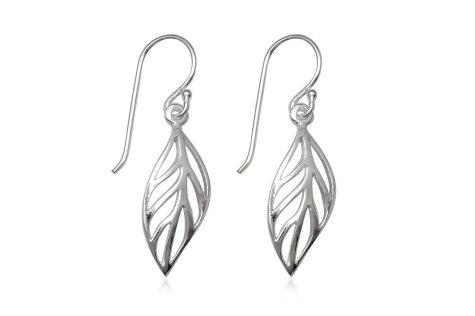 cercei frunze simple din argint