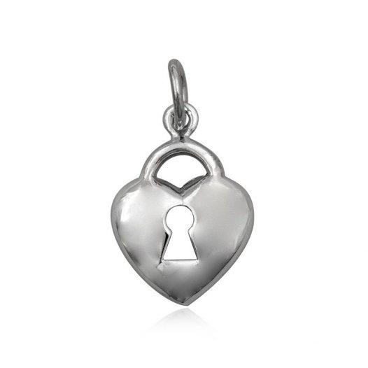 pandantiv lacatel inima din argint
