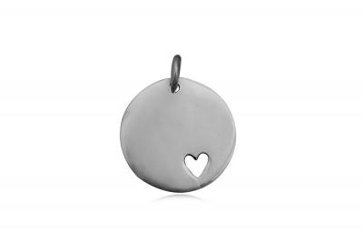 Medalion din argint cu inimioara