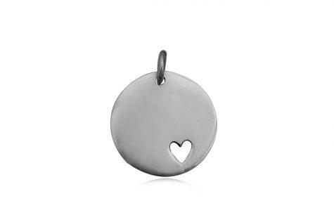 medalion cu inima din argint
