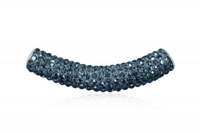 Pandantiv tubular cu cristale albastre