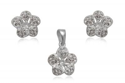 Set din argint Flori cu cinci petale