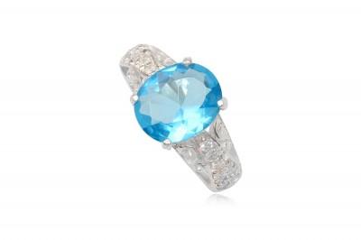 Inel de logodna Magic Blue