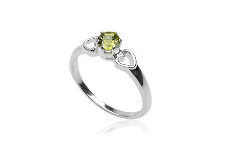 inel de logodna cu peridot