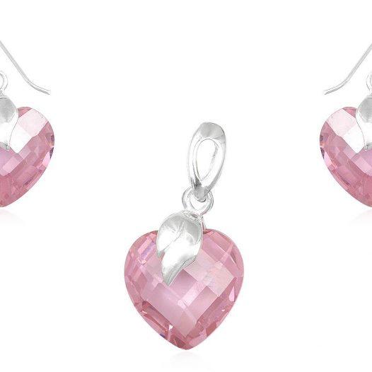 set din cubic zirconia roz fatetat