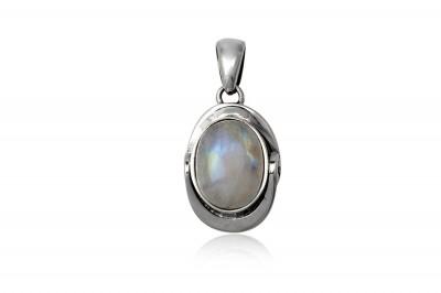 Pandantiv oval din argint si Piatra Lunii