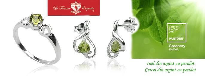 bijuterii cu peridot-greenery
