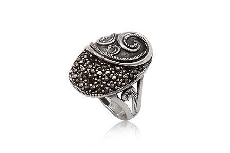 inel din argint cu marcasite vintage
