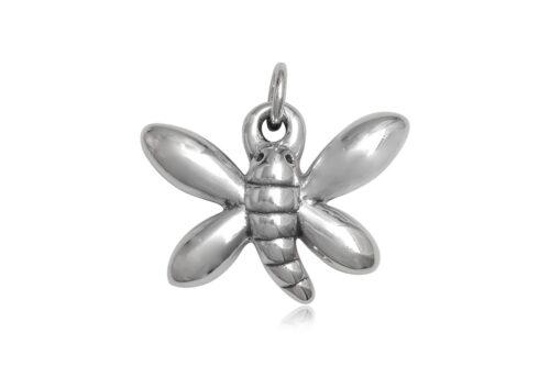 pandantiv fluture stralucitor argint