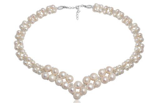 colier statement de mireasa cu perle