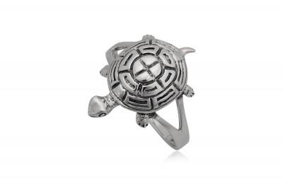 Inel din argint cu Broscuta testoasa