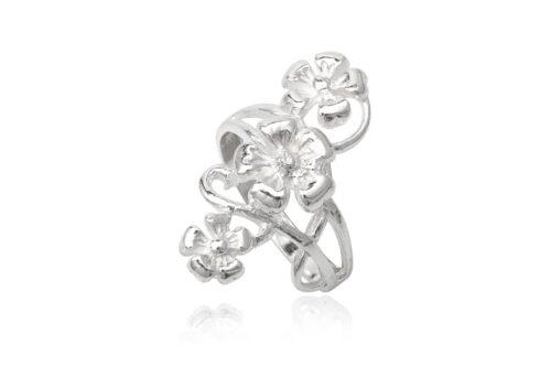 inel flori din argint 925