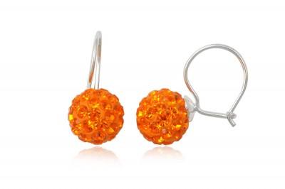 Cercei veseli cu cristale orange