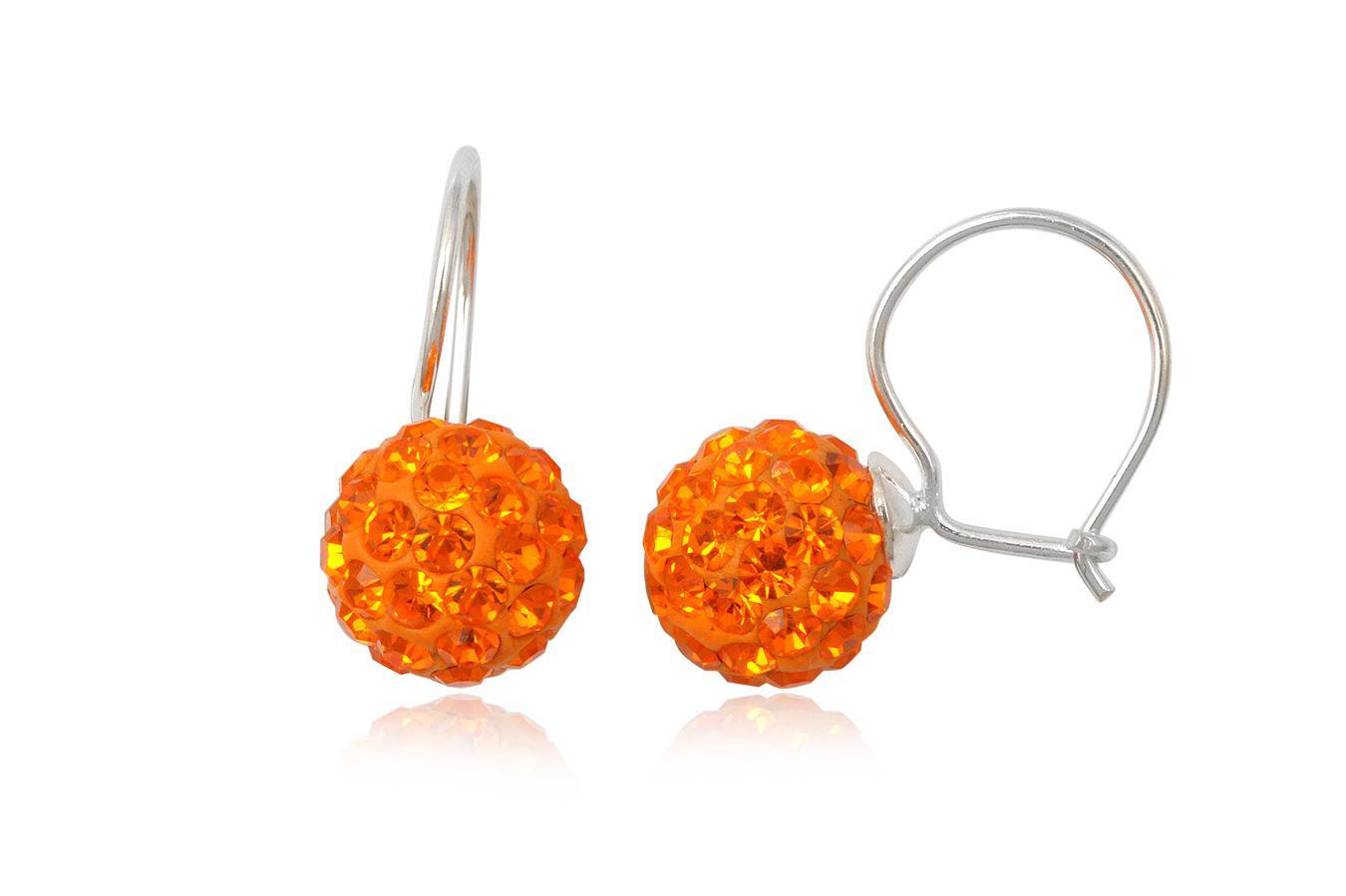 cercei cu cristale portocalii