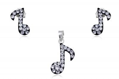 Set Note muzicale in alb si negru