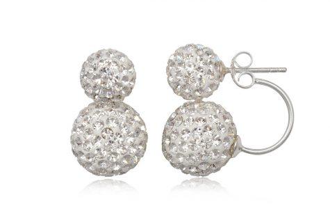 cercei stil dior cu cristale albe