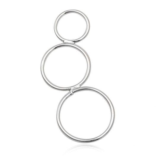 pandantiv cercuri finute argint