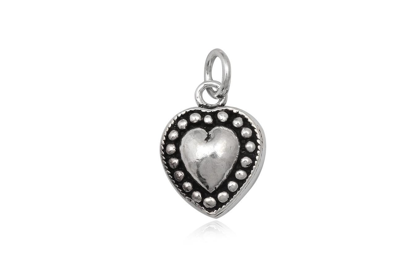pandantiv inimioara punctata din argint