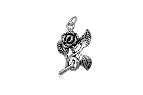 pandantiv trandafir romantic argint