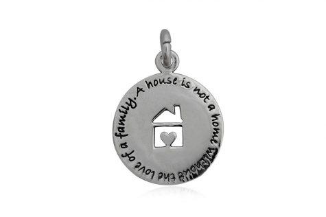medalion din argint cu mesaj de suflet