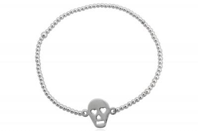 Bratara din argint cu Craniu