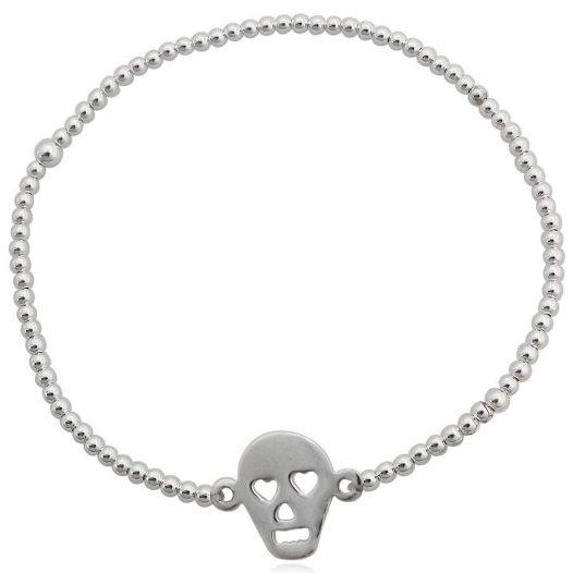 bratara argint cu craniu