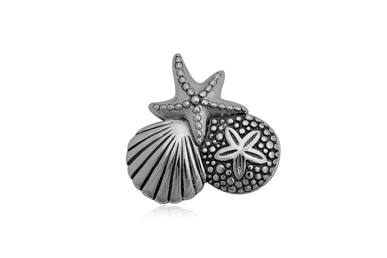 pandantiv cu motive marine din argint