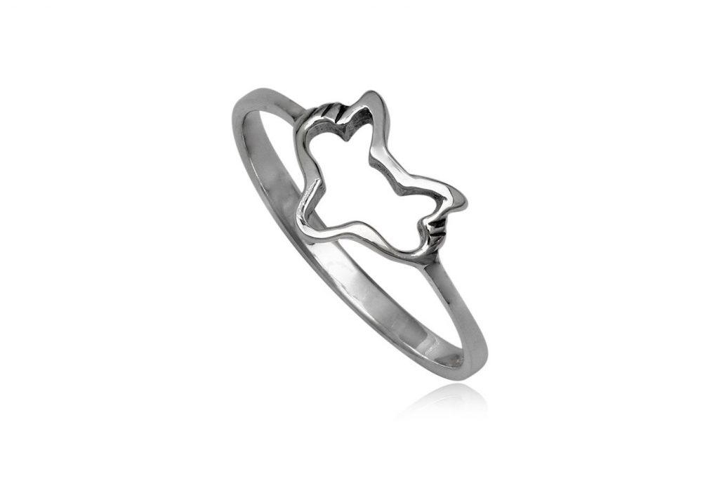 Inel Cap De Vulpe Din Argint 925