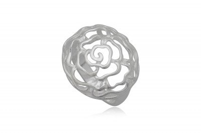 Inel Trandafir brodat in argint 925