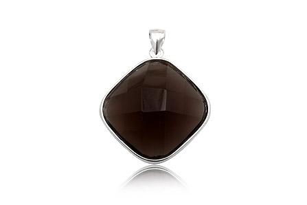 pandantiv romb smoky quartz